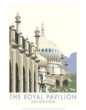 Rotal Pavilion, Brighton - Dave Thompson Contemporary Travel Print by Dave Thompson