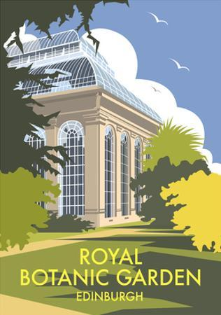 Royal Botanic Garden, Edinburgh - Dave Thompson Contemporary Travel Print by Dave Thompson