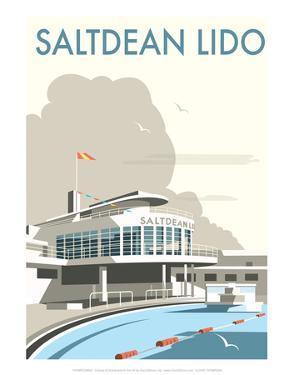 Saltdean Lido - Dave Thompson Contemporary Travel Print by Dave Thompson
