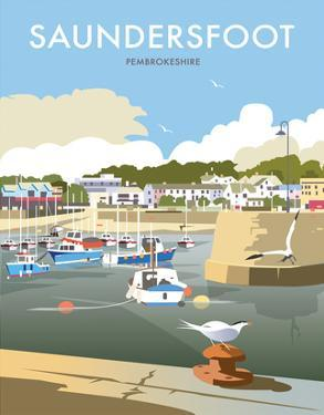 Saundersfoot - Dave Thompson Contemporary Travel Print by Dave Thompson