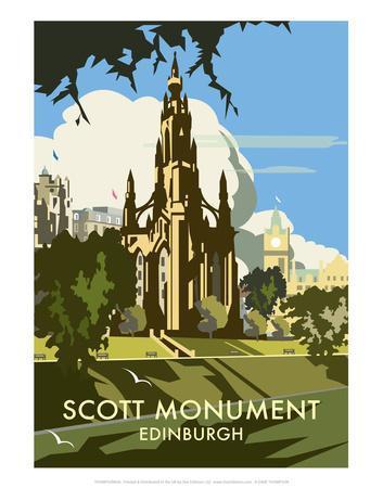 Scott Monument, Edinburgh - Dave Thompson Contemporary Travel Print