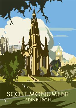 Scott Monument, Edinburgh - Dave Thompson Contemporary Travel Print by Dave Thompson