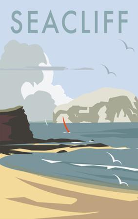 Seacliff - Dave Thompson Contemporary Travel Print by Dave Thompson