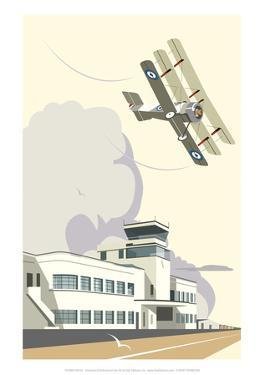 Shoreham Airport Blank - Dave Thompson Contemporary Travel Print by Dave Thompson