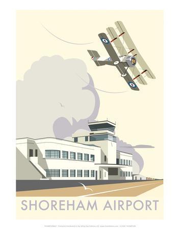 Shoreham Airport - Dave Thompson Contemporary Travel Print