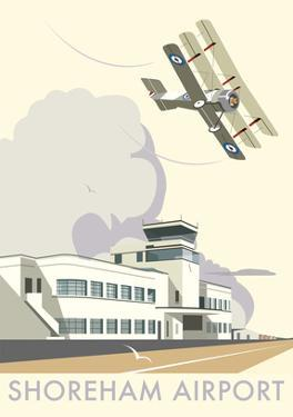 Shoreham Airport - Dave Thompson Contemporary Travel Print by Dave Thompson
