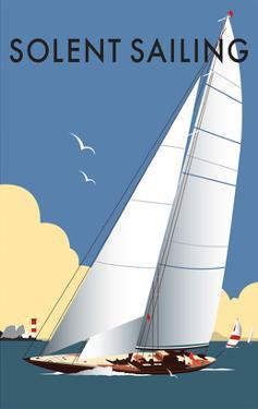 Solent Sailing - Dave Thompson Contemporary Travel Print by Dave Thompson