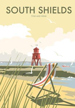 South Shields - Dave Thompson Contemporary Travel Print by Dave Thompson