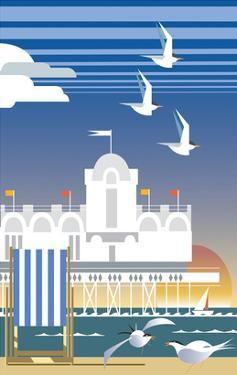 Southsea - Dave Thompson Contemporary Travel Print by Dave Thompson