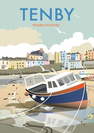Tenby - Dave Thompson Contemporary Travel Print
