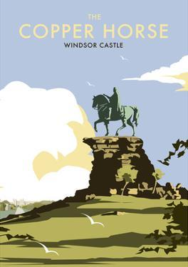 The Copper Horse - Windsor Castle - Dave Thompson Contemporary Travel Print by Dave Thompson