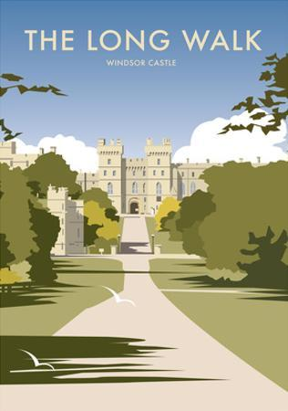 The Long Walk - Windsor Castle - Dave Thompson Contemporary Travel Print