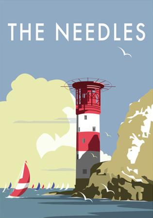 The Needles - Dave Thompson Contemporary Travel Print