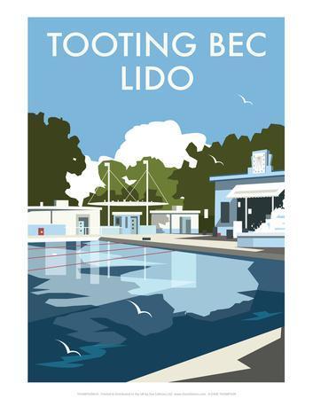 Tooting Bec Lido - Dave Thompson Contemporary Travel Print