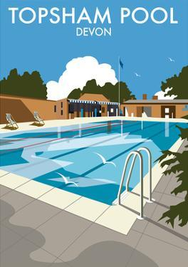 Topsham Pool, Devon - Dave Thompson Contemporary Travel Print by Dave Thompson