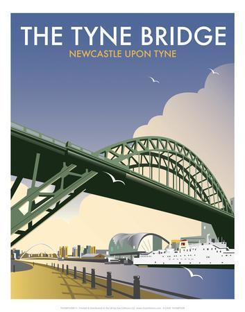 Tyne Bridge - Dave Thompson Contemporary Travel Print