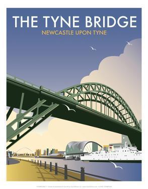 Tyne Bridge - Dave Thompson Contemporary Travel Print by Dave Thompson