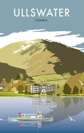 Ullswater - Dave Thompson Contemporary Travel Print by Dave Thompson