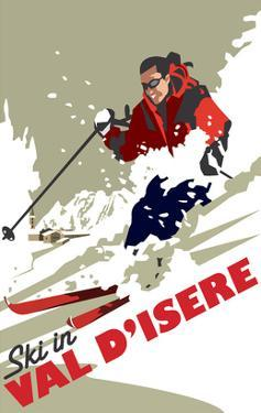 Val D'Isere - Dave Thompson Contemporary Travel Print by Dave Thompson