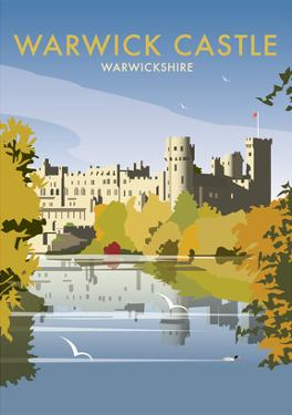 Warwick Castle - Dave Thompson Contemporary Travel Print by Dave Thompson