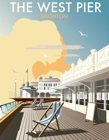 West Pier, Brighton - Dave Thompson Contemporary Travel Print