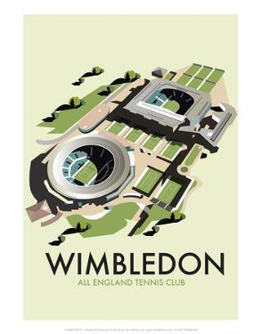 Wimbledon - Dave Thompson Contemporary Travel Print by Dave Thompson