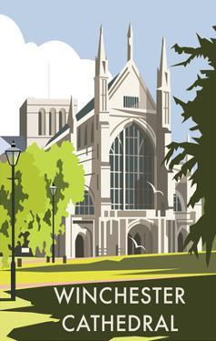 Winchester Cathedral - Dave Thompson Contemporary Travel Print by Dave Thompson