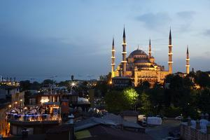The Blue Mosque in Sultanahmet, Istanbul, At Dusk by Dave Yoder