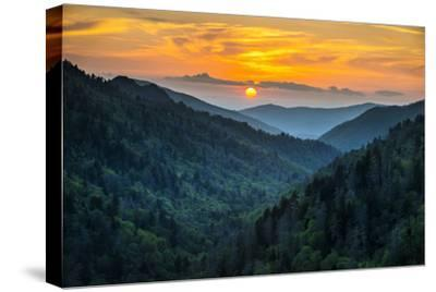 Gatlinburg Tn Great Smoky Mountains National Park Scenic Sunset Landscape by daveallenphoto