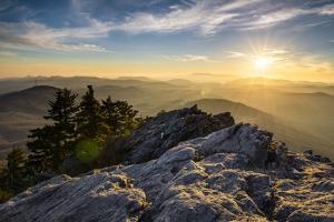 Grandfather Mountain Appalachian Sunset Blue Ridge Parkway Western Nc by daveallenphoto