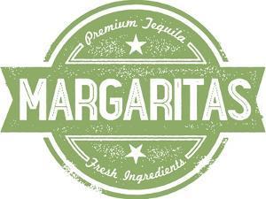 Premium Margaritas Cocktail Bar Menu Stamp by daveh900