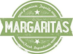 Premium Margaritas Cocktail Bar Menu Stamp by daveh900