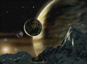 Exoplanet by David A Hardy