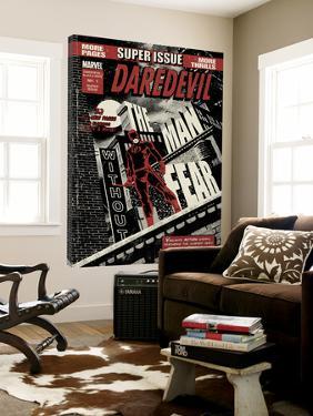 Daredevil Black & White No.1 Cover: Daredevil Standing on a Rooftop by David Aja