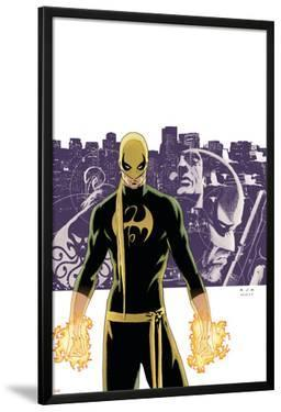 The Immortal Iron Fist No.6 Cover: Iron Fist, Randall and Orson Charging by David Aja