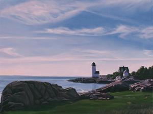 Squam Light Evening, 2014 by David Arsenault