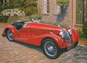 Riley Red Roadster by David Bailey