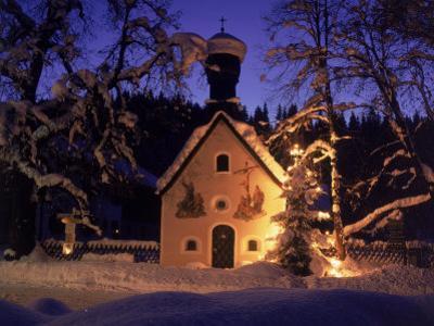 Christmas Chapel Model, Bavaria, Germany by David Ball