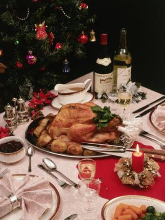 Christmas Dinner Table Setting by David Ball