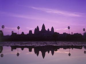 Dusk at Pond, Cambodia by David Ball