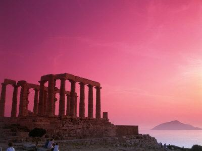 Greece, Sounion, Temple of Poseidon