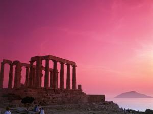 Greece, Sounion, Temple of Poseidon by David Ball