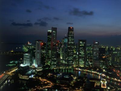 Skyline from Westin Stamford Hotel, Singapore by David Ball