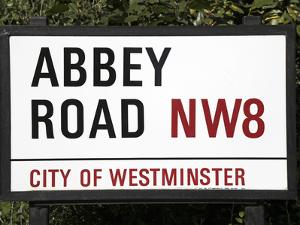 Abbey Road Is Home to the Famous Tone Studio Where the Beatles Songs Where Recorded and the Name of by David Bank