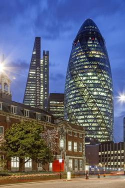 Seen from Aldgate High Street. on the Left 122 Leadenhall Street, on the Right 30 St. Mary Axe. by David Bank