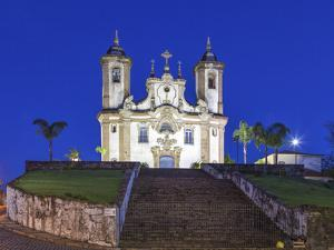 The Church of Nossa Senhora Do Carmo in the Centre of Ouro Preto, in the State of Minas Gerais by David Bank