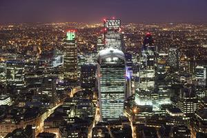 The City of London Seen from the Viewing Gallery of the Shard. by David Bank