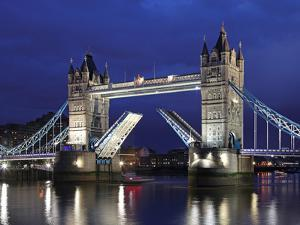 The Famous Tower Bridge over the River Thames in London by David Bank