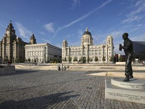 The Pier Head with the Royal Liver Building, the Neighbouring Cunard Building and Port of Liverpool by David Bank