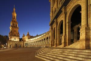The Plaza De Espana Is a Plaza Located in the Maria Luisa Park, in Seville, Spain by David Bank